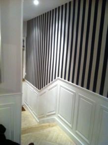 Selectravaux chantiers r alis s for Papier peint entree escalier